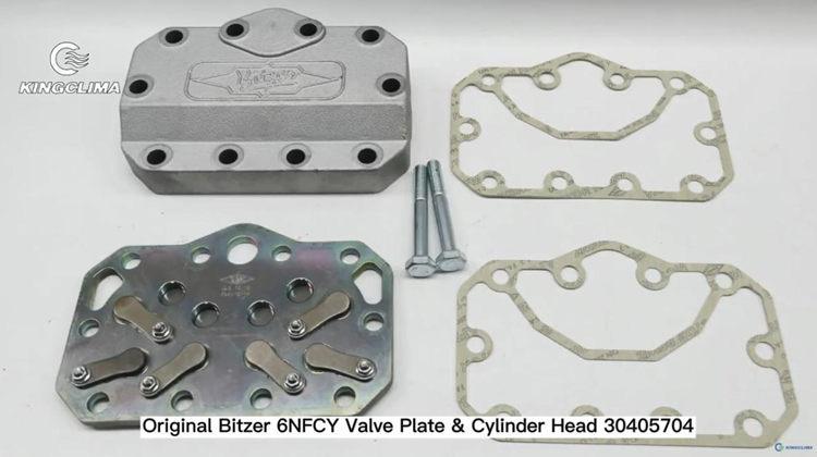 Original Bitzer 6NFCY Valve Plate and Cylinder Head 30405704