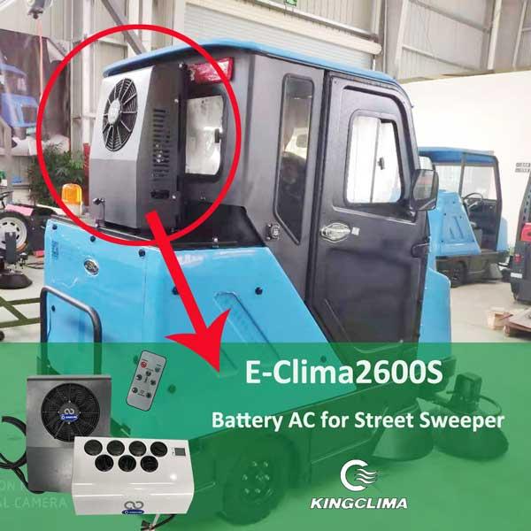 Split Battery Powered AC for Street Sweeper